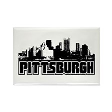 Pittsburgh Skyline Rectangle Magnet