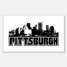 Pittsburgh Skyline Sticker (Rectangle)
