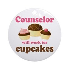 Funny Counselor Ornament (Round)