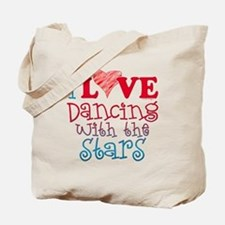 I Love Dancing wtih the Stars Tote Bag