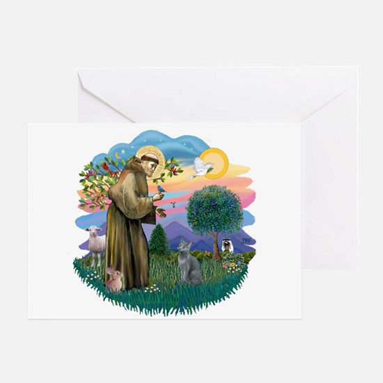 St Fran (ff) - Russian Blue (#2) Greeting Card