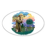St Fran (ff) - Russian Blue (#2) Sticker (Oval 10
