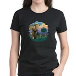 St Fran (ff) - Russian Blue (#2) Women's Dark T-Sh