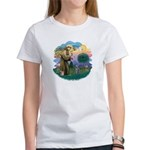 St Fran (ff) - Russian Blue (#2) Women's T-Shirt