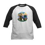 St Fran (ff) - 3 Persian Cats Kids Baseball Jersey