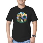 St Fran (ff) - 3 Persian Cats Men's Fitted T-Shirt