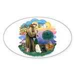 St Fran (ff) - 3 Persian Cats Sticker (Oval 10 pk)