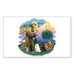 St Fran (ff) - 3 Persian Cats Sticker (Rectangle 1