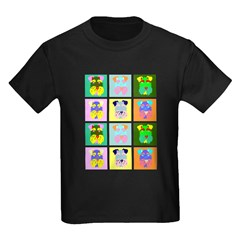 Schnauzer Pop Art Kids Dark T-Shirt