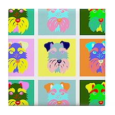 Schnauzer Pop Art Tile Coaster