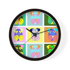 Schnauzer Pop Art Wall Clock
