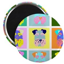 Schnauzer Pop Art Magnet