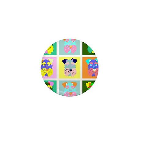 Schnauzer Pop Art Mini Button