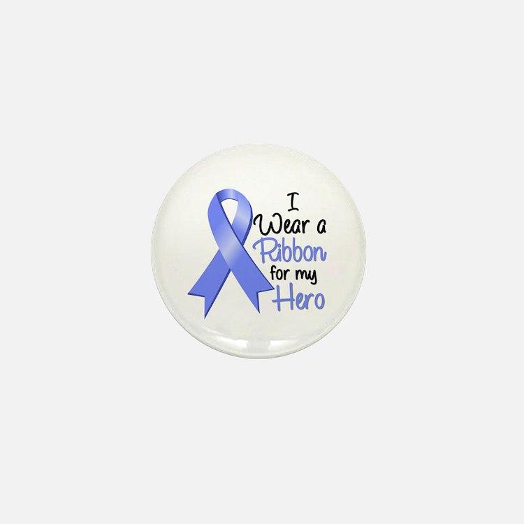 Hero Ribbon Stomach Cancer Mini Button