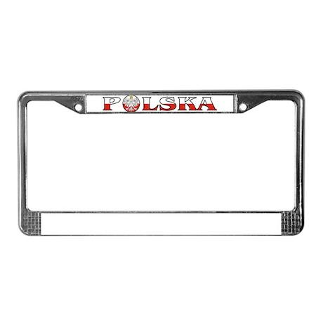 Polska Eagle / Polish Flag License Plate Frame