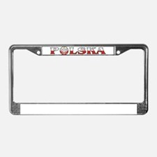 Polska Eagle / Polish Flag License Plate Frame