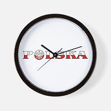 Polska Eagle / Polish Flag Wall Clock