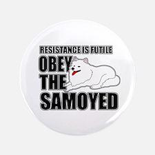 "Samoyed 3.5"" Button"
