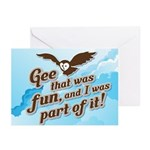 Gee That Was Fun Greeting Cards (Pk of 20)