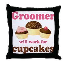Funny Groomer Throw Pillow
