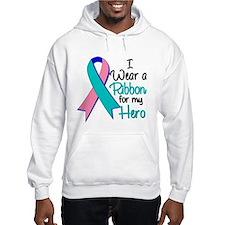Hero Ribbon Thyroid Cancer Hoodie