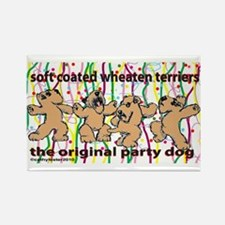 Party Wheaten Rectangle Magnet