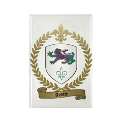 AYOTTE Family Crest Rectangle Magnet (100 pack)