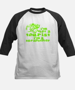 Not A Tourist - Green Kids Baseball Jersey