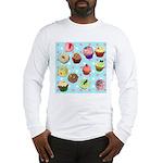 Polka Dot Cupcakes Long Sleeve T-Shirt