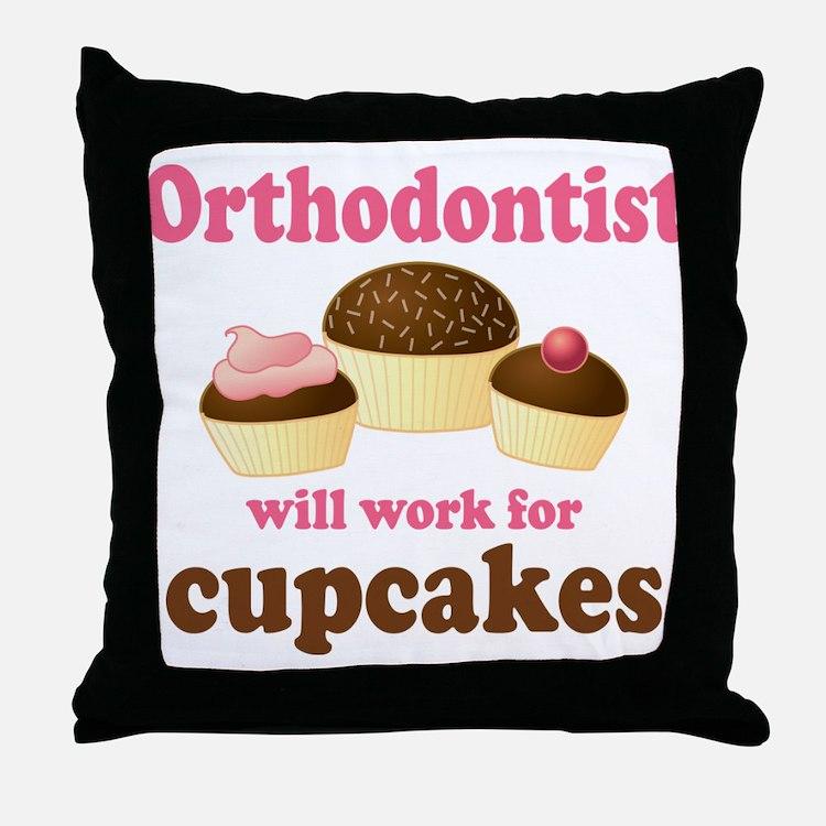 Funny Orthodontist Throw Pillow
