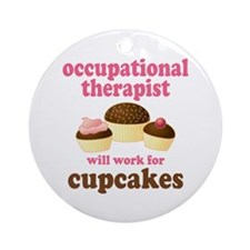 Funny Occupational Therapist Ornament (Round)