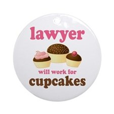 Funny Lawyer Ornament (Round)