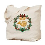 French Horn Christmas Music Tote Bag