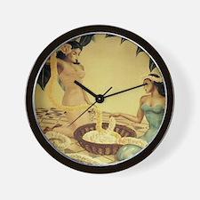 'Hawaiian Lei Makers' by Gill Wall Clock