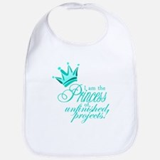 Unfinished Princess - Teal Bib