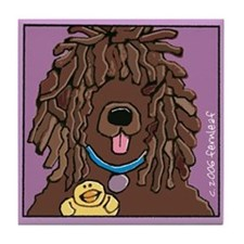 Irish Water Spaniel, Ducky Tile Coaster