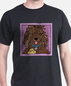 Irish Water Spaniel, Ducky Black T-Shirt
