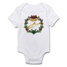 Christmas Trombone Music Infant Bodysuit