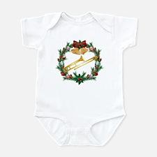 Christmas Trombone Music Infant Bodysuit