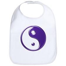 Purple Yin Yang Bib