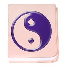 Purple Yin Yang Infant Blanket