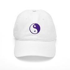 Purple Yin Yang Baseball Cap