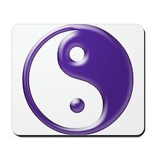 Purple Yin Yang Mousepad