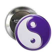 """Purple Yin Yang 2.25"""" Button"""