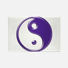 Purple Yin Yang Rectangle Magnet (10 pack)