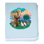 St Fran (ff) - 2 Siamese (A) Infant Blanket