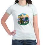 St Fran (ff) - 2 Siamese (A) Jr. Ringer T-Shirt