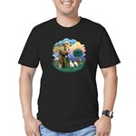 St Fran (ff) - 2 Siamese (A) Men's Fitted T-Shirt
