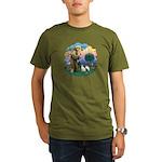 St Fran (ff) - 2 Siamese (A) Organic Men's T-Shirt