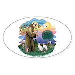 St Fran (ff) - 2 Siamese (A) Sticker (Oval 10 pk)